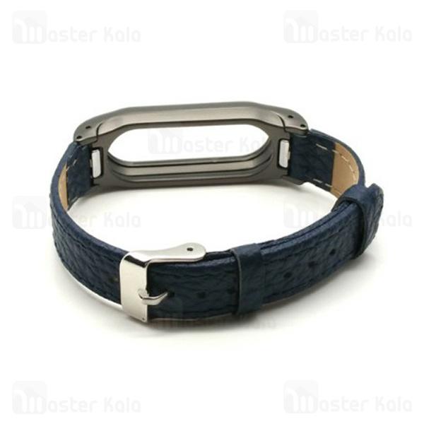 بند چرمی دستبند سلامتی شیائومی Xiaomi Mi Band 3 Leather Wrist Strap