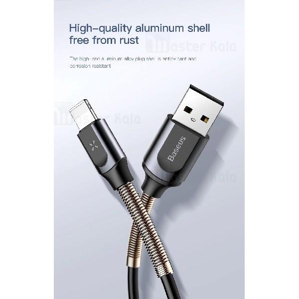 کابل لایتنینگ بیسوس Baseus Double spring CALSH-0G طراحی تلفنی با توان 2 آمپر