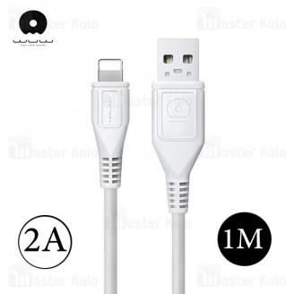 کابل شارژ لایتنینگ WUW X95 Charge Cable طول 1 متر با توان 2 آمپر
