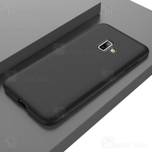 قاب ژله ای طرح فیبر کربنی Kugi سامسونگ Samsung Galaxy J6 Plus