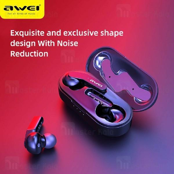 هندزفری بلوتوث دوتایی اوی Awei T10C True Wireless Earphones دارای کیس شارژ
