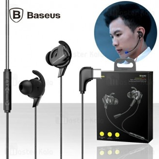 هندزفری سیمی بیسوس Baseus GAMO Wired Earphone C15 NGC15-01 دارای کانکتور Type C