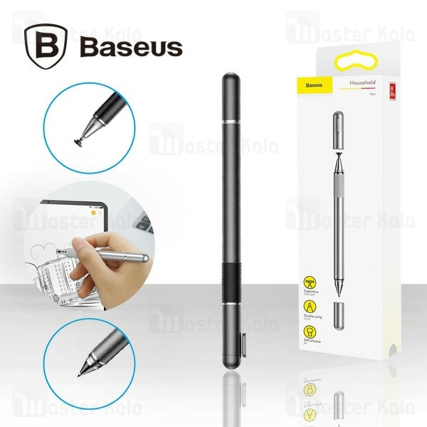 قلم لمسی و خودکار بیسوس Baseus Household Golden Cudgel Pen ACPCL-01 مناسب تمام گوشی های لمسی