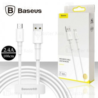 کابل میکرو یو اس بی بیسوس Baseus Mini White CAMSW-02 توان 2.4 آمپر