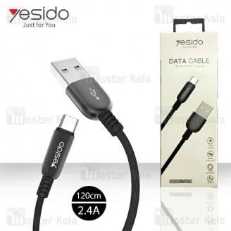 کابل Type C یسیدو Yesido CA-25 Type-C Cable توان 2.4 آمپر