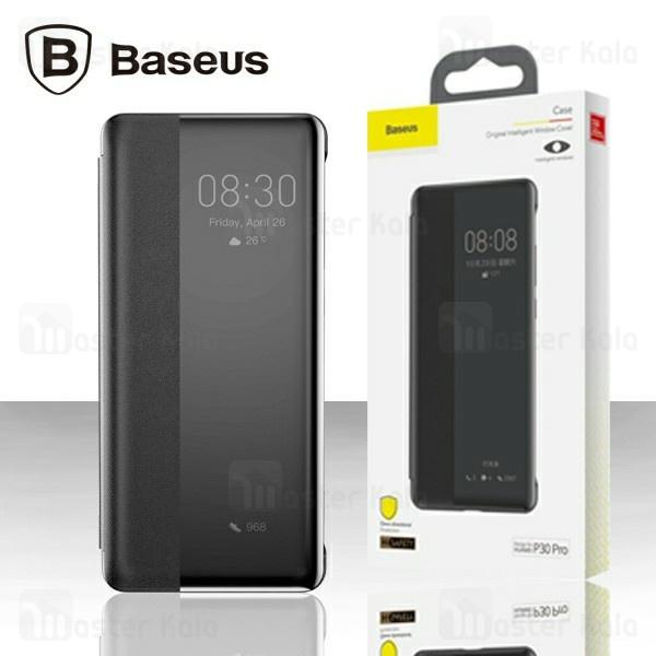 کیف چرمی هوشمند بیسوس هواوی Huawei P30 Pro Baseus Intelligent Window Cover