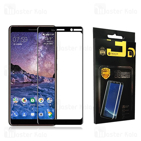 محافظ صفحه شیشه ای تمام صفحه تمام چسب نوکیا Nokia 7 Plus Mocol Glass