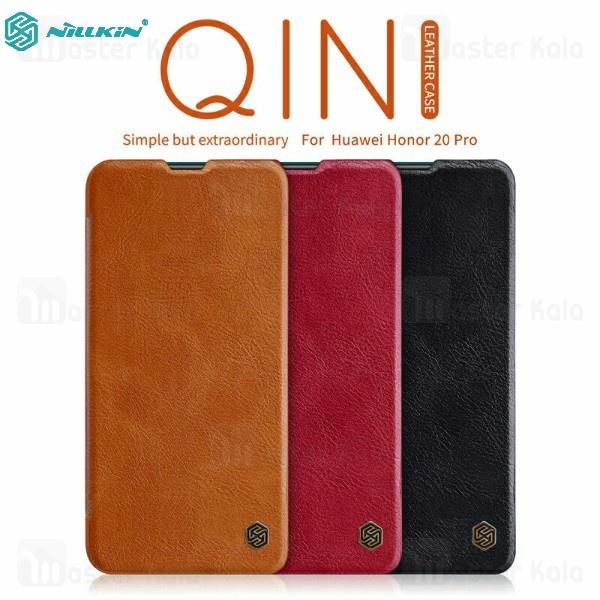 کیف چرمی نیلکین هواوی Huawei Honor 20 Pro Nillkin Qin Leather Case