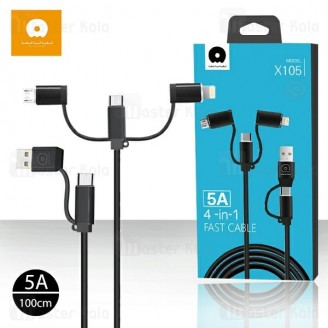 کابل شش کاره WUW X105 4 in 1 Fast Charge Cable توان 5 آمپر