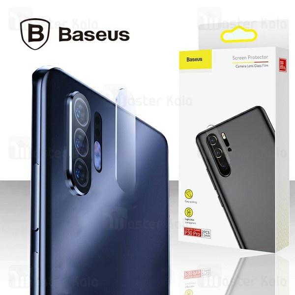 پک دوتایی محافظ لنز دوربین شیشه ای بیسوس HUAWEI P30 Pro Baseus Lens Glass SGHWP30P-JT02