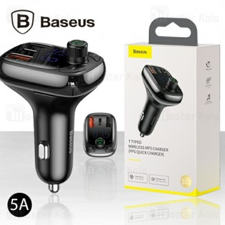 شارژر فندکی فست شارژ و پخش کننده بلوتوث Baseus T Typed QC4.0 Bluetooth CCTM-B01