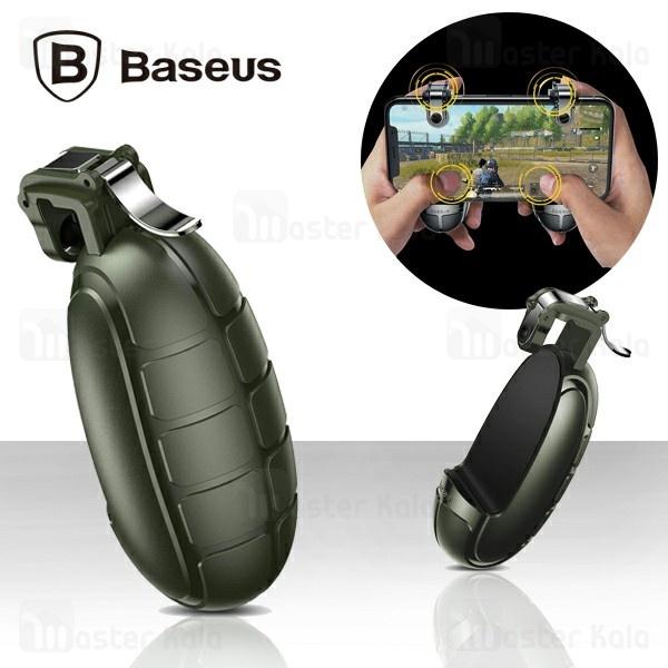 دسته بازی انگشتی بیسوس Baseus grenade handle for games ACSLCJ-01 طرح نارنجک