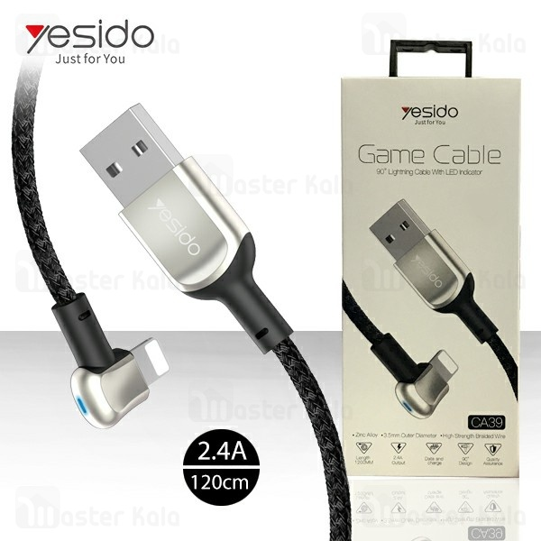 کابل لایتنینگ یسیدو Yesido CA39 Game Cable توان 2.4 آمپر