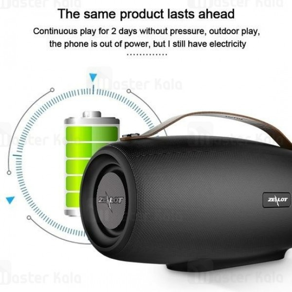 اسپیکر بلوتوث زیلوت Zealot S27 Bass Wireless Speaker رم خور