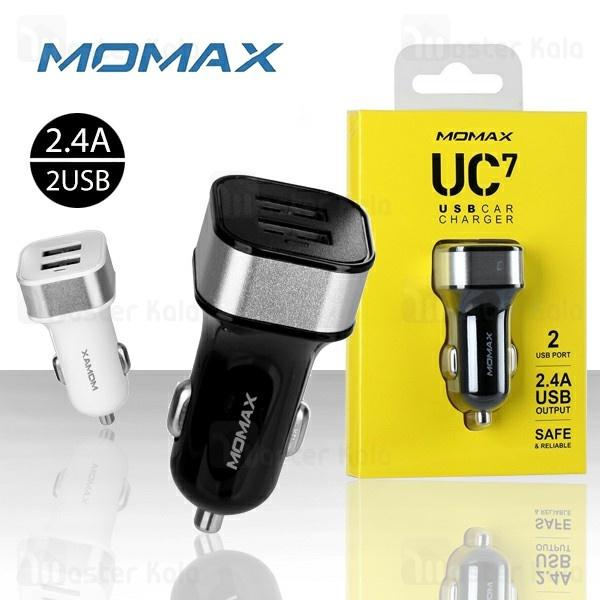 شارژر فندکی مومکس Momax UC7 USB Car Charger توان 2.4 آمپر