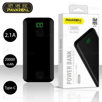 پاوربانک 20000 میلی آمپر Pavareal PA-PB30 Dual Port Power Bank توان 2.1 آمپر