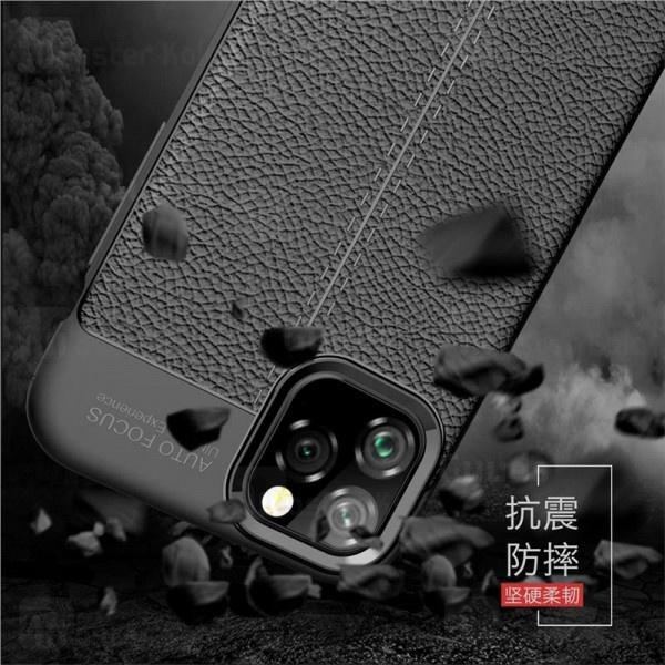 قاب محافظ ژله ای طرح چرم آیفون Apple iPhone 11 Pro Auto Focus