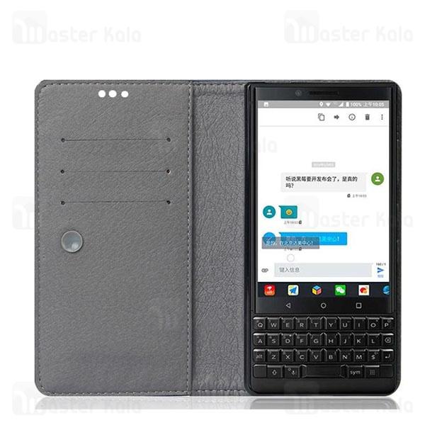 کیف طرح چرم بلک بری BlackBerry Key2 Leather Case