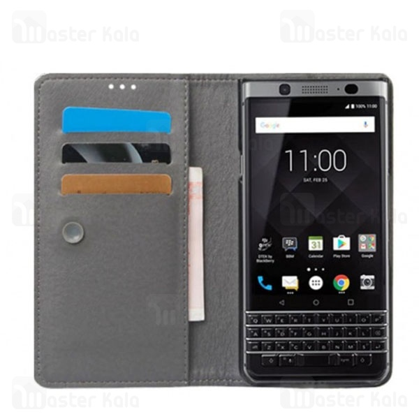 کیف طرح چرم بلک بری BlackBerry KEYone DTEK70/Mercury Leather Case