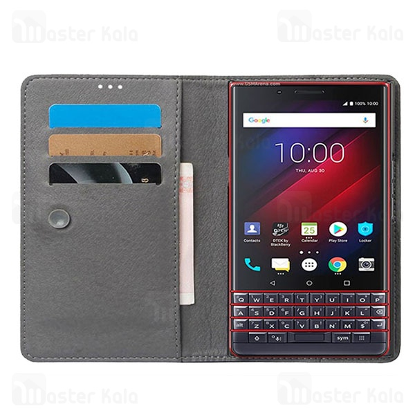 کیف طرح چرم بلک بری BlackBerry Passport Q30 Leather Case