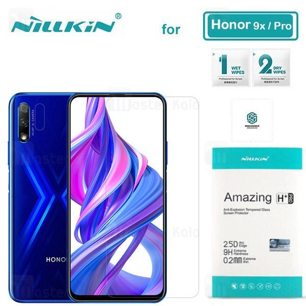 محافظ صفحه شیشه ای نیلکین هواوی Huawei Honor 9x / 9x Pro Nillkin H+ Pro + محافظ لنز
