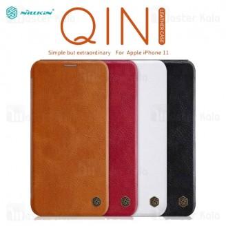 کیف چرمی نیلکین اپل آیفون Apple iPhone 11 Nillkin Qin Leather Case