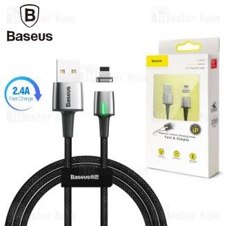 کابل مگنتی لایتنینگ بیسوس Baseus Lightning Zinc Magnetic Cable CALXC-A01 2.4A