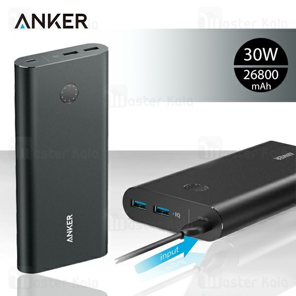 پاوربانک 26800 میلی آمپر انکر Anker A1375 Powercore Plus 30w PowerIQ QC3.0