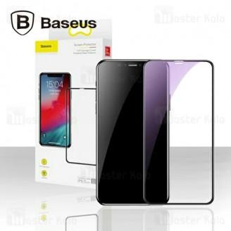 محافظ صفحه شیشه ای تمام صفحه و ضد اشعه بیسوس Apple iPhone 11 Pro Max Baseus SGAPIPH65S-KD01