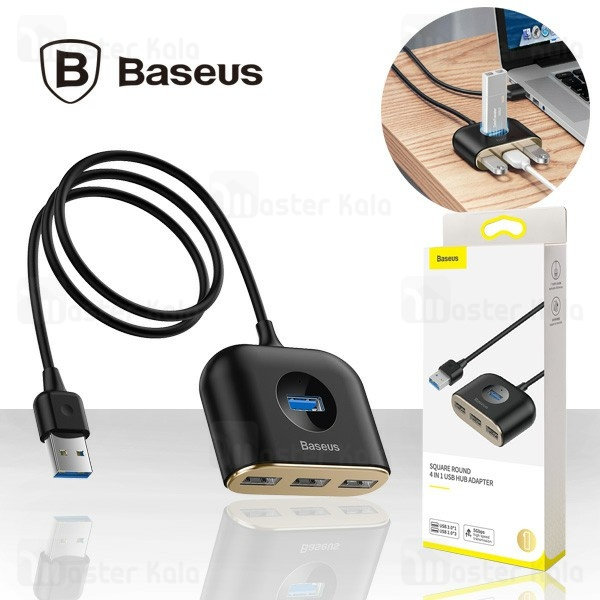 هاب شارژر چهار پورت بیسوس Baseus Square Round USB 3.0 Hub CAHUB-AY01