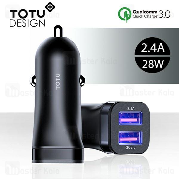 شارژر فندکی فست شارژ توتو TOTU DCCQ-03 Gallop QC3.0 Car Charger توان 2.4 آمپر