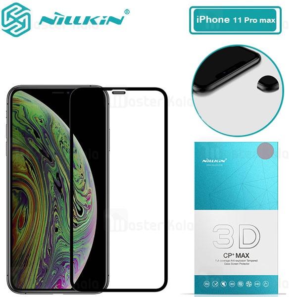 محافظ صفحه شیشه ای تمام صفحه نیلکین آیفون Apple iPhone 11 Pro Max 3D CP+ Max