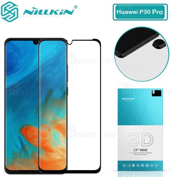 محافظ صفحه شیشه ای تمام صفحه نیلکین هواوی Huawei P30 Pro 3D CP+ Max