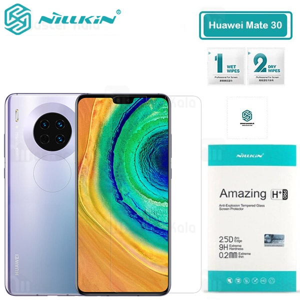 محافظ صفحه شیشه ای نیلکین هواوی Huawei Mate 30 Nillkin H+ Pro + محافظ لنز