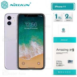محافظ صفحه شیشه ای نیلکین آیفون Apple iPhone 11 / XR Nillkin H+ Pro + محافظ لنز