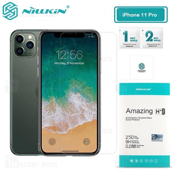 محافظ صفحه شیشه ای نیلکین آیفون Apple iPhone 11 Pro / X / XS Nillkin H+ Pro + محافظ لنز