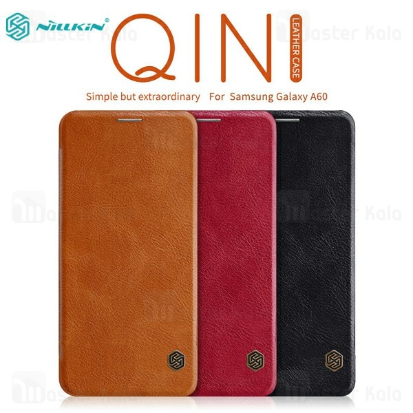 کیف چرمی نیلکین سامسونگ Samsung Galaxy A60 2019 / A606 Nillkin Qin Leather Case
