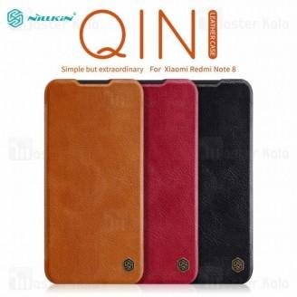 کیف چرمی نیلکین شیائومی Xiaomi Redmi Note 8 Nillkin Qin Leather Case