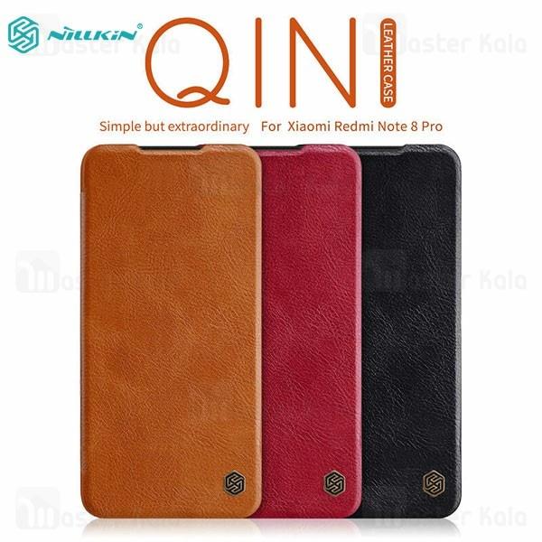 کیف چرمی نیلکین شیائومی Xiaomi Redmi Note 8 Pro Nillkin Qin Leather Case