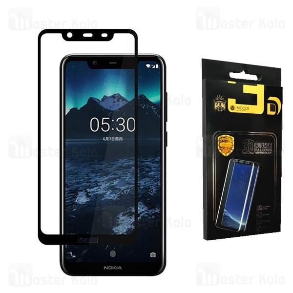 محافظ صفحه شیشه ای تمام صفحه تمام چسب نوکیا Nokia 8.1 / X7 Mocol Glass