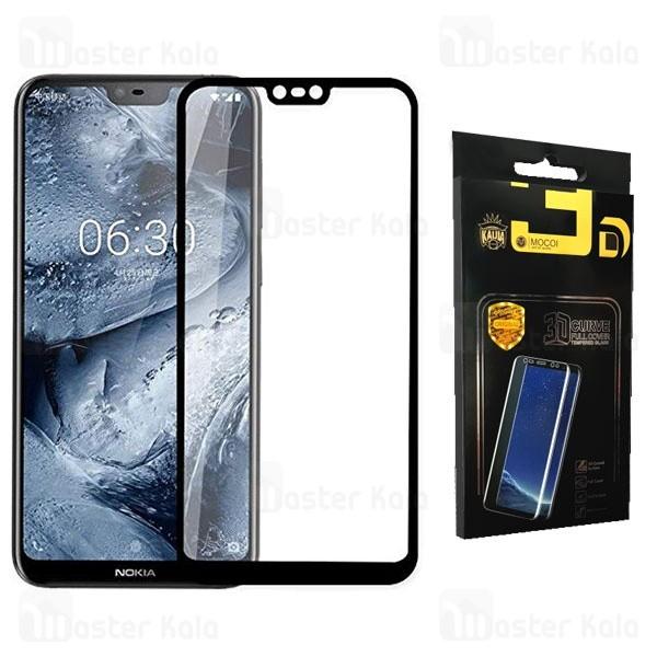 محافظ صفحه شیشه ای تمام صفحه تمام چسب نوکیا Nokia 6.1 Plus / X6