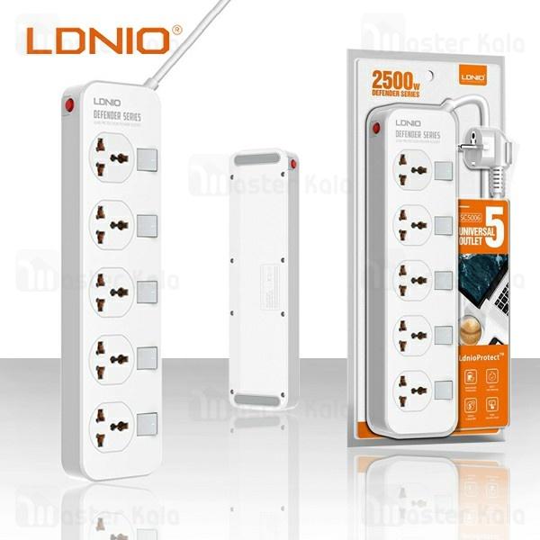 چندراهی برق الدینیو Ldnio SC5006 Defender Power Strip دارای 5 پریز