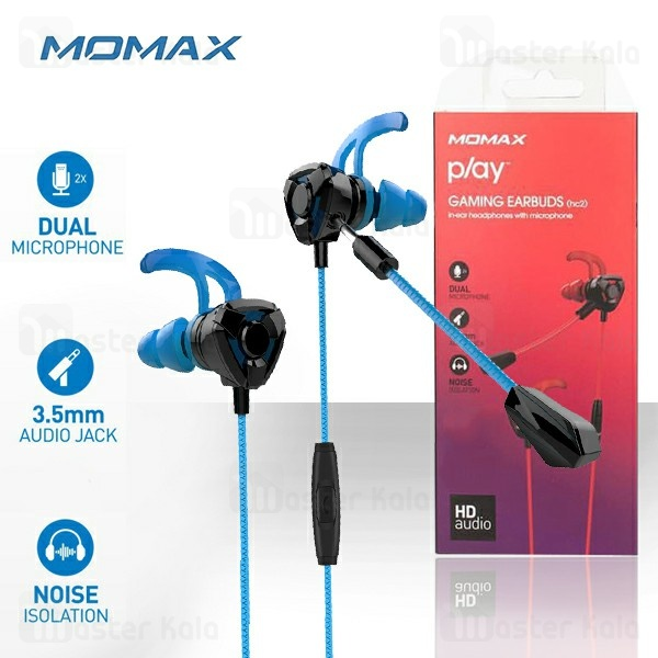 هندزفری سیمی مومکس Momax Play HC2 Gaming Earphone طراحی گیمینگ