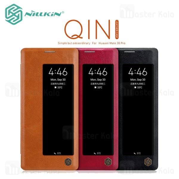 کیف چرمی هوشمند نیلکین هواوی Huawei Mate 30 Pro Nillkin Qin Leather Case