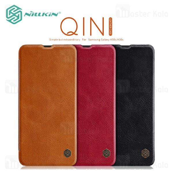 کیف چرمی نیلکین سامسونگ Samsung Galaxy A50 Nillkin Qin Leather Case