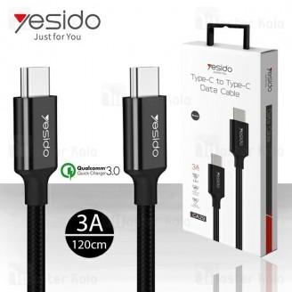کابل Type C به Type C فست شارژ یسیدو Yesido CA29 QC3.0 Cable توان 60 وات
