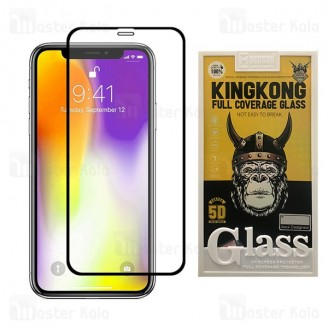 محافظ صفحه شیشه ای تمام صفحه و تمام چسب آیفون Apple iPhone 11 Pro Max / XS Max Glass TPU Mocoson