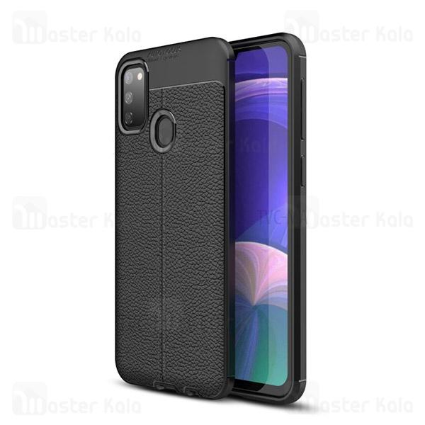 قاب محافظ ژله ای طرح چرم سامسونگ Samsung Galaxy M30s / M307 Auto Focus