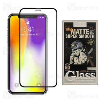 محافظ صفحه شیشه ای مات تمام صفحه و تمام چسب آیفون Apple iPhone 11 Pro Max / XS Max Mocoson