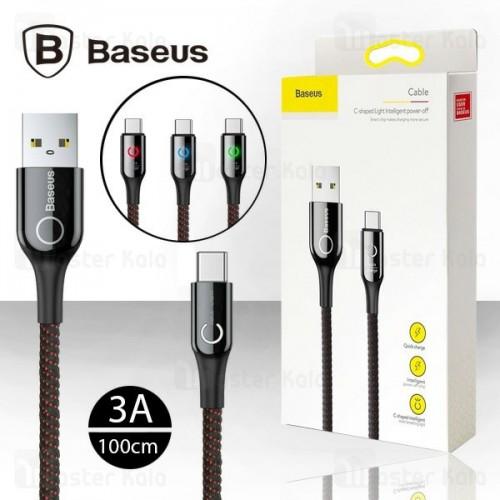 کابل Type C فست شارژ بیسوس Baseus C-Shaped Cable دارای قطع کن خودکار